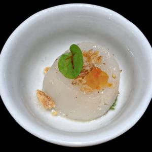 rauwe st jakobsvrucht met truffelolie